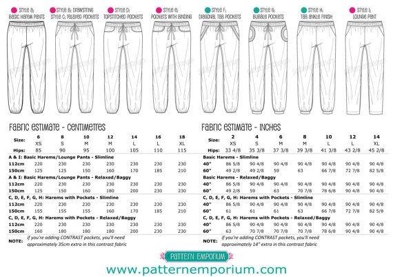 Damen PLUDERHOSE Hosen & Lounge Hose PDF von MyPatternEmporium | DIY ...