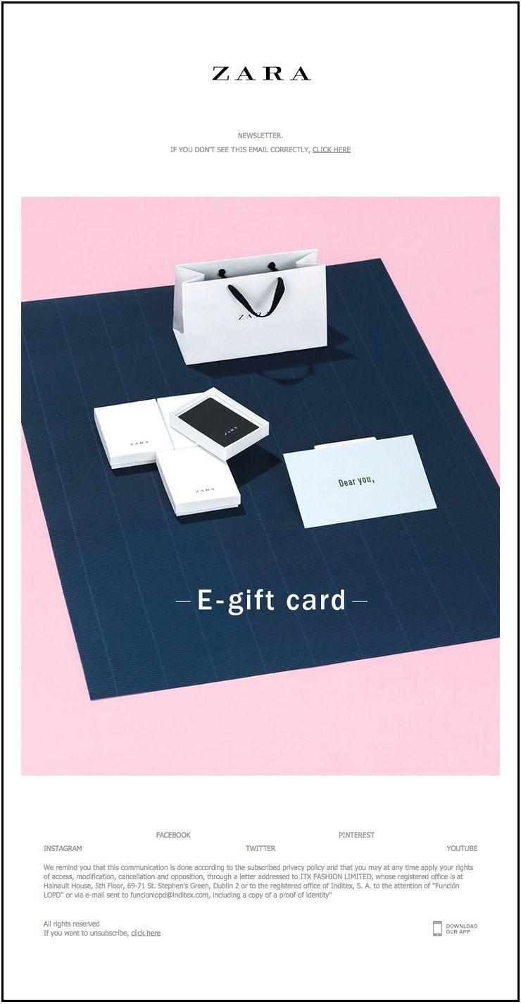 Zara gift card | Newsletter | Pinterest