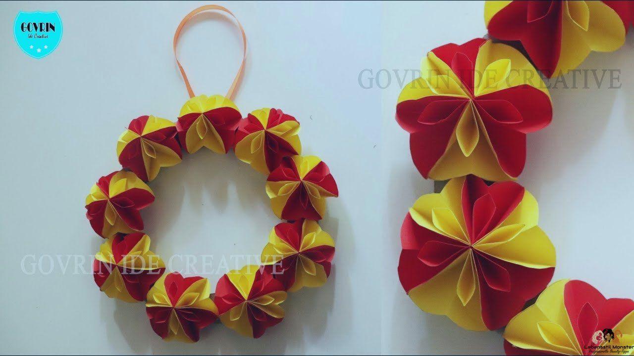 Keren Cara Membuat Hiasan Dinding Dari Bahan Kertas Origami Diy Dekorasi Kamar Bahan Cara Dari Dekorasi Christmas Ornaments Holiday Decor Origami