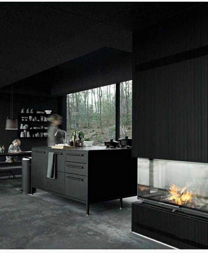Dark interiors prefab homes kitchen design interior exterior apartment also pin by james camber on sp  haus in pinterest rh
