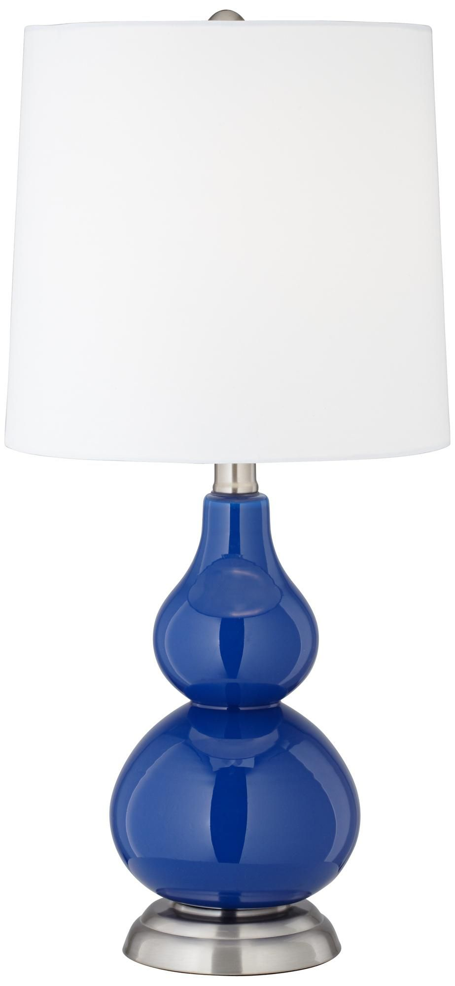 Royal blue small gourd accent table lamp my first employee royal blue small gourd accent table lamp my first employee purchase couldnt geotapseo Choice Image