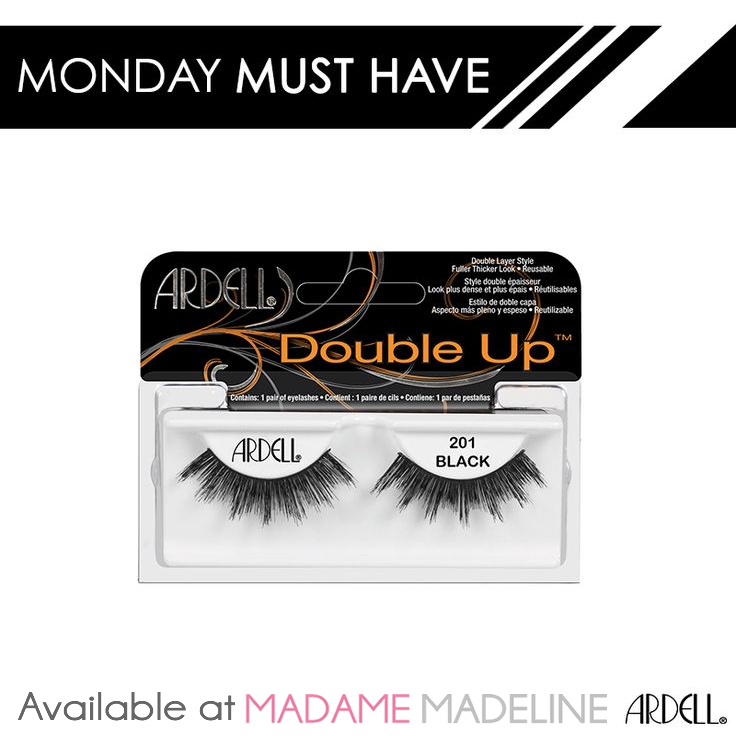 f280a83bdb2 ... drama to your look? Ardell 'Double Up #201' lashes are the perfect  addition to any smoky eye. # MondayMustHave Available at Madame Madeline  Lashes