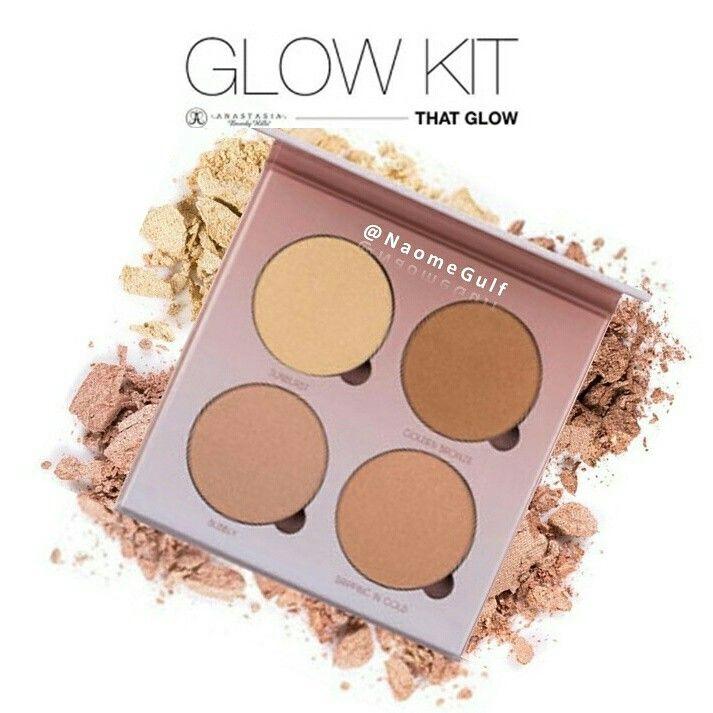 باليت اضائة انستازيا تحتوي على اربع الوان مختلفه لتناسب مع جميع انواع البشرات الوانها غنيه وجميله تمنح البشرة اضائة تن Glow Kit Eyeshadow Makeup
