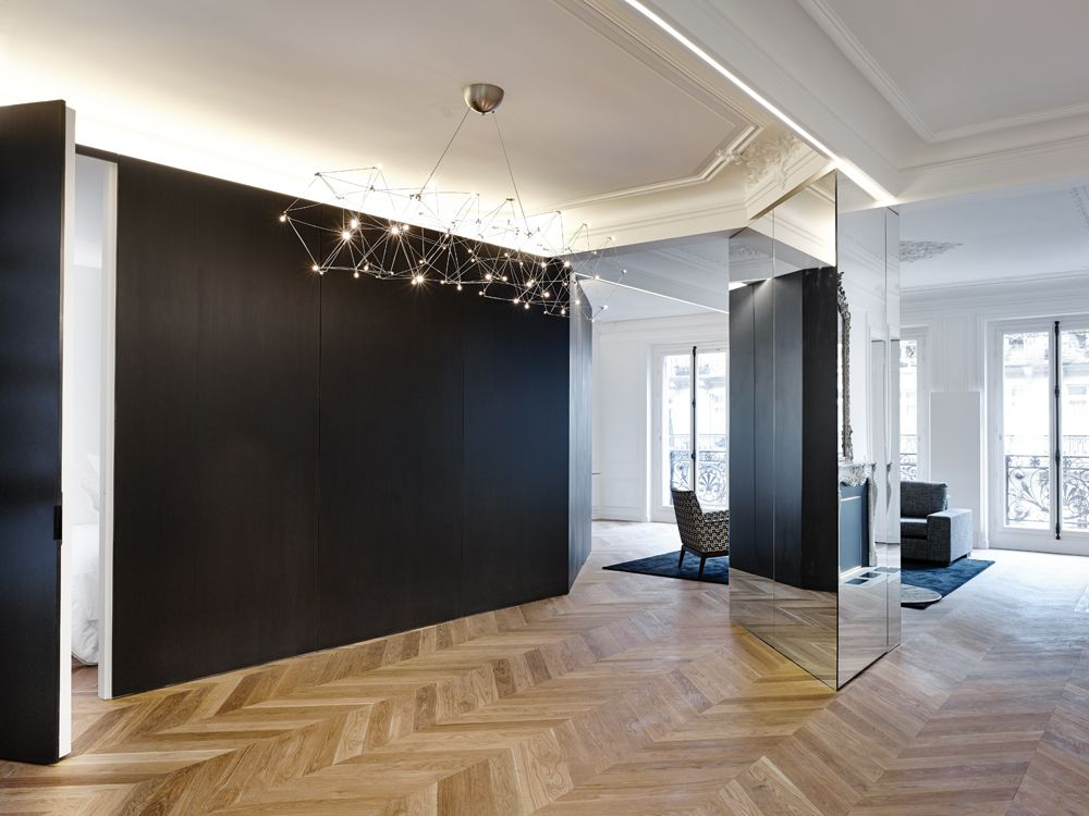 r novation appartement haussmannien paris 75 antoine pinterest. Black Bedroom Furniture Sets. Home Design Ideas