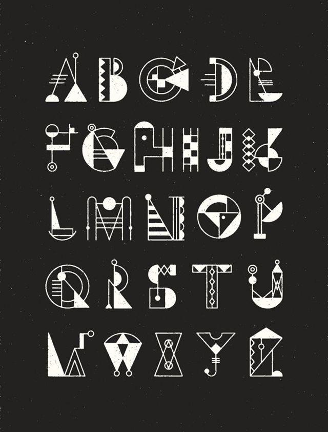white color Bauhaus Typeface   Alphabets & Fonts