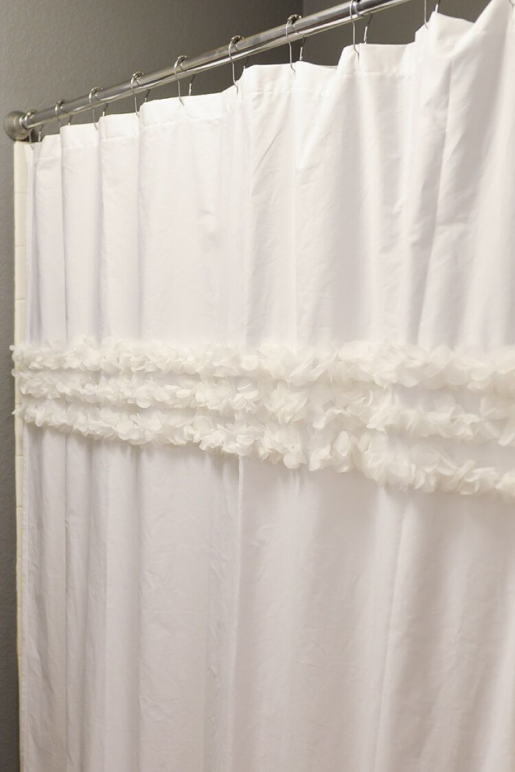 How to make a shower curtain out of a flat sheet home decorating