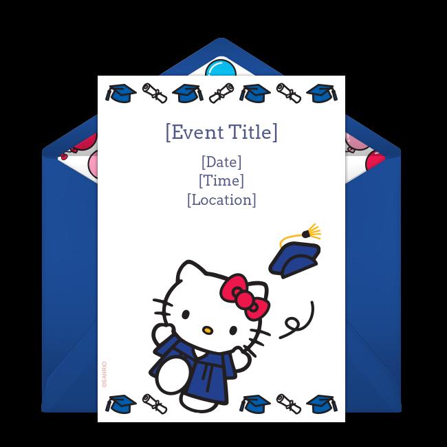 Free Hello Kitty Graduation Invitations Pinterest Preschool