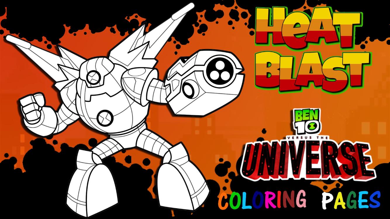 Ben 10 Versus The Universe Omni Naut Heatblast Coloring Page Cartoon Network Art Cartoon Network Fanart Art Day