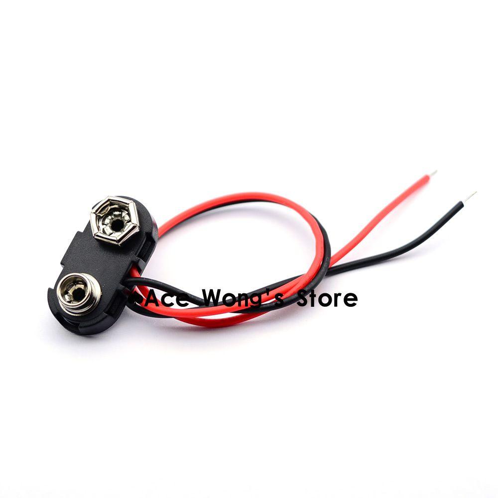 10ピース9ボルトバッテリースナップコネクタクリップリード線ホルダー Car Fuses Connector Battery