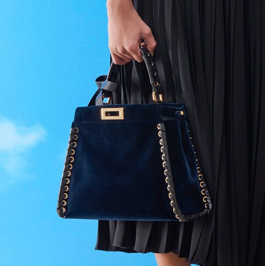 Fendi Blue Velvet Peekaboo Bag - Pre-Fall 2018  a24e44cb6dc0a