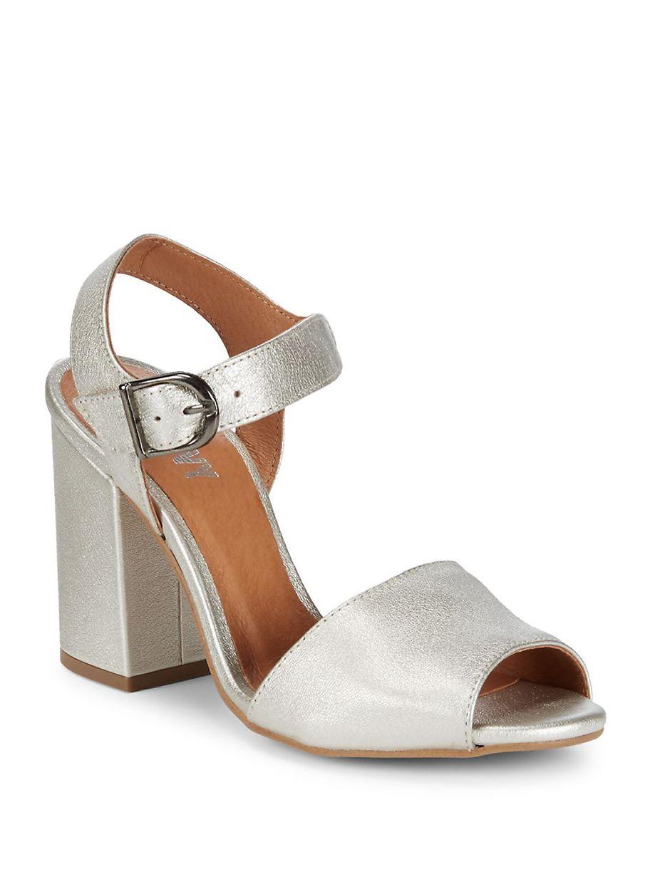 e859e333f34 RENVY Brocade Block Heel Sandals