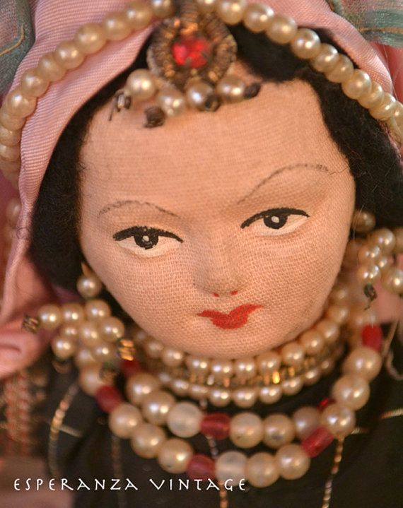 Beautiful East Indian Costume Doll with by EsperanzaVintage, $52.00
