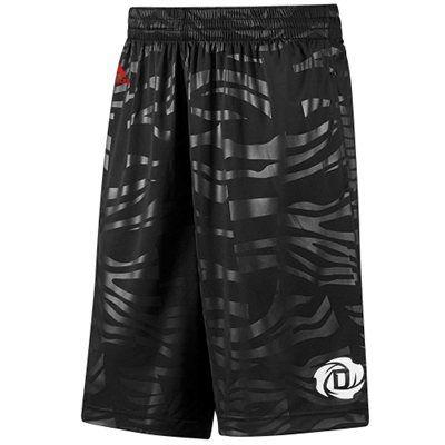 adidas Derrick Rose Chicago Bulls Bengal Shorts - Black