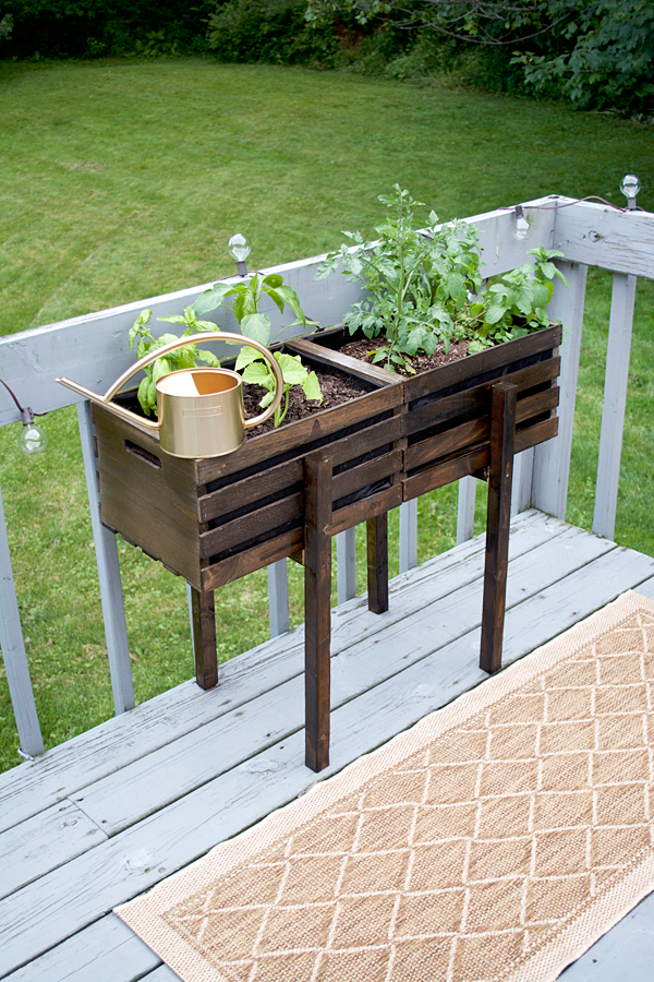 Modern Raised Crate Planter Raised Wooden Planters Modern Planters Outdoor Planter Design