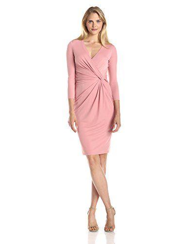 Anne Klein Women's 3/4 Sleeve Wrap Dress, Petal, 12 Anne Klein ...