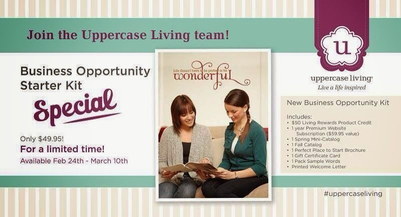 Until March 10, 2014 you can become apart of the Uppercase Living team for only $49.95! http://heatherswiers.uppercaseliving.net send your questions to heatherdswiers@gmail.com