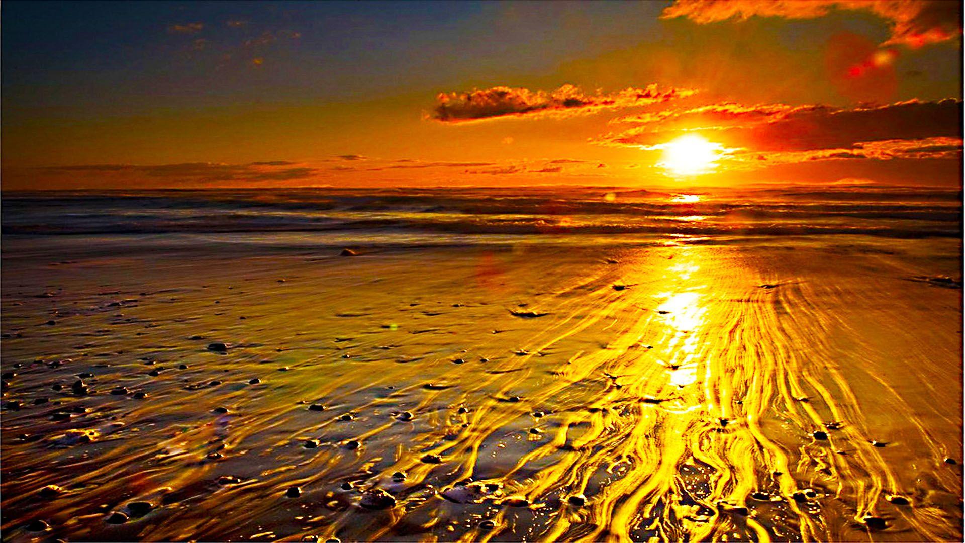 Goreous Golden Sunrise Sunrise Wallpaper Sunset Sunrise Beach