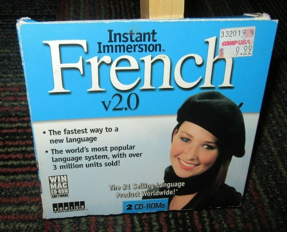 INSTANT IMMERSION: FRENCH VER  2 0, 2-DISC PC CD-ROM FOR WINDOWS/MAC
