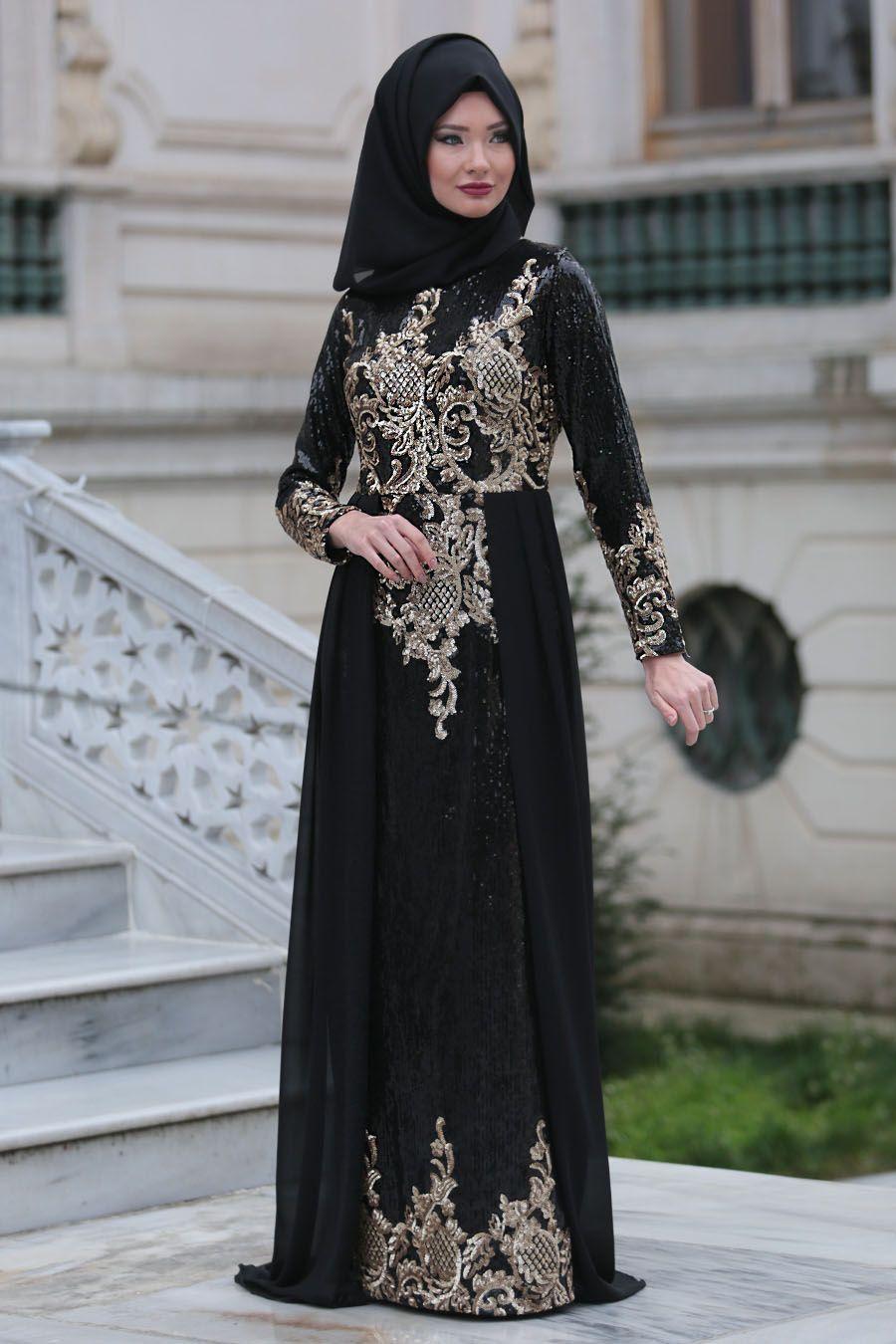 e6341bca47b7e 2018/2019 Yeni Sezon Özel Tasarım Abiye Koleksiyonu - Tesettürlü Abiye  Elbiseler - Pul Payet