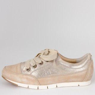 GoldMy Leder Beige Sneaker Metallic Paul Green Style BoexWrdC