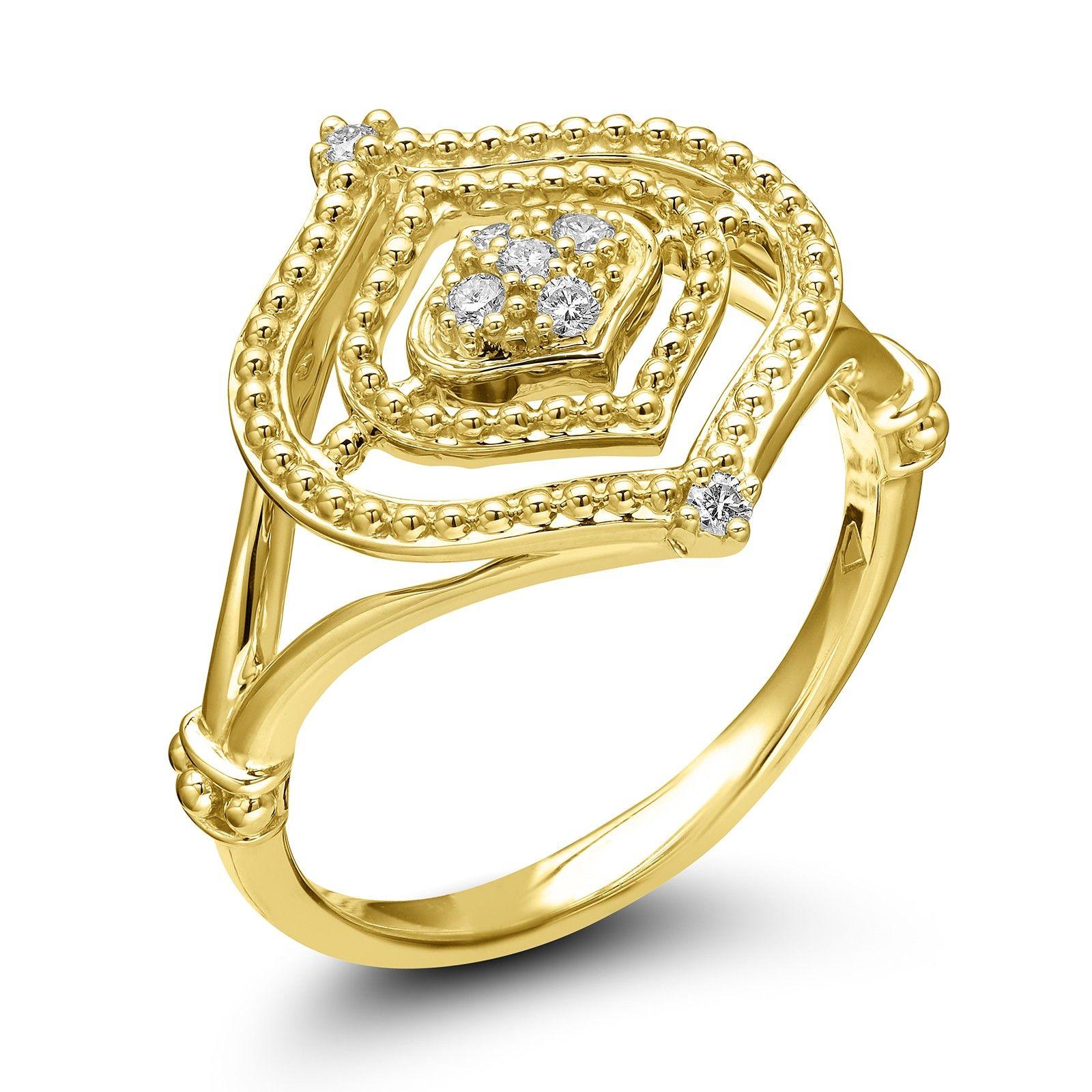 Judith Ripka 18KYG Stella Diamond Set Ring Judith Ripka