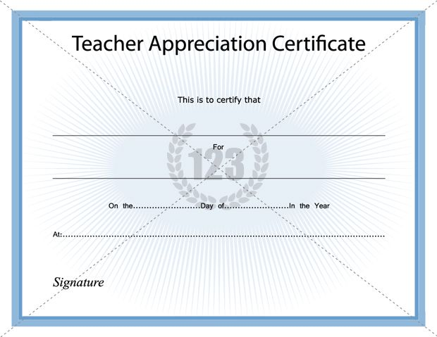 Best teacher appreciation certificate download best teacher appreciation certificate download 123certificatetemplates certificate template yadclub Image collections