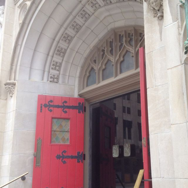 Red church door at Trinity Episcopal downtown Tulsa OK & Red church door at Trinity Episcopal downtown Tulsa OK | Church ...