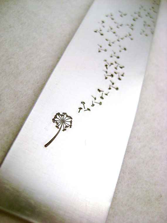 Metal Stamped Personalised Bookmark  Dandelion Wish by MauveMagpie, £5.00