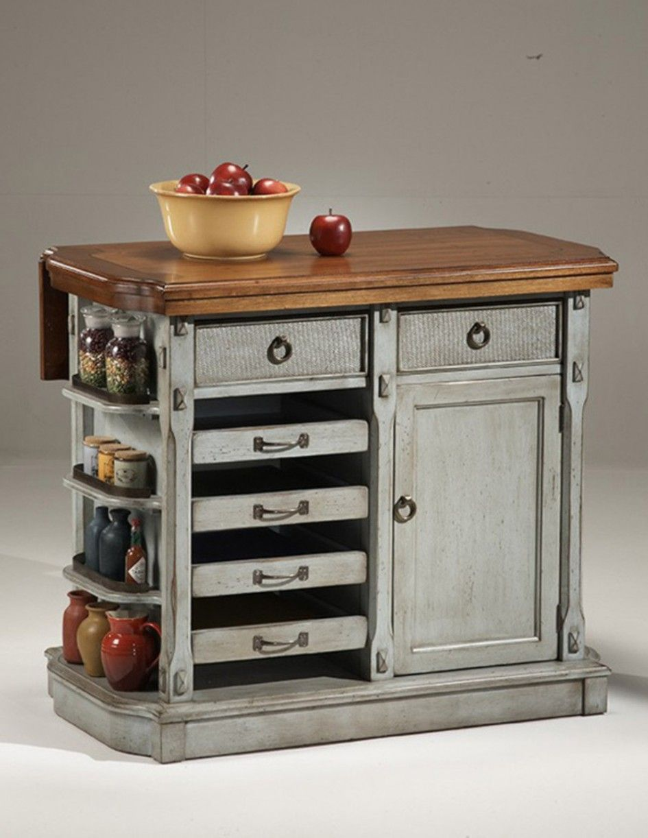 Imposing Stainless Steel Movable Kitchen Island with Heavy