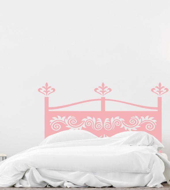 Bettgestell, Wandtattoo, Vintage, Wandsticker, Wandaufkleber - wandtattoo schlafzimmer sprüche