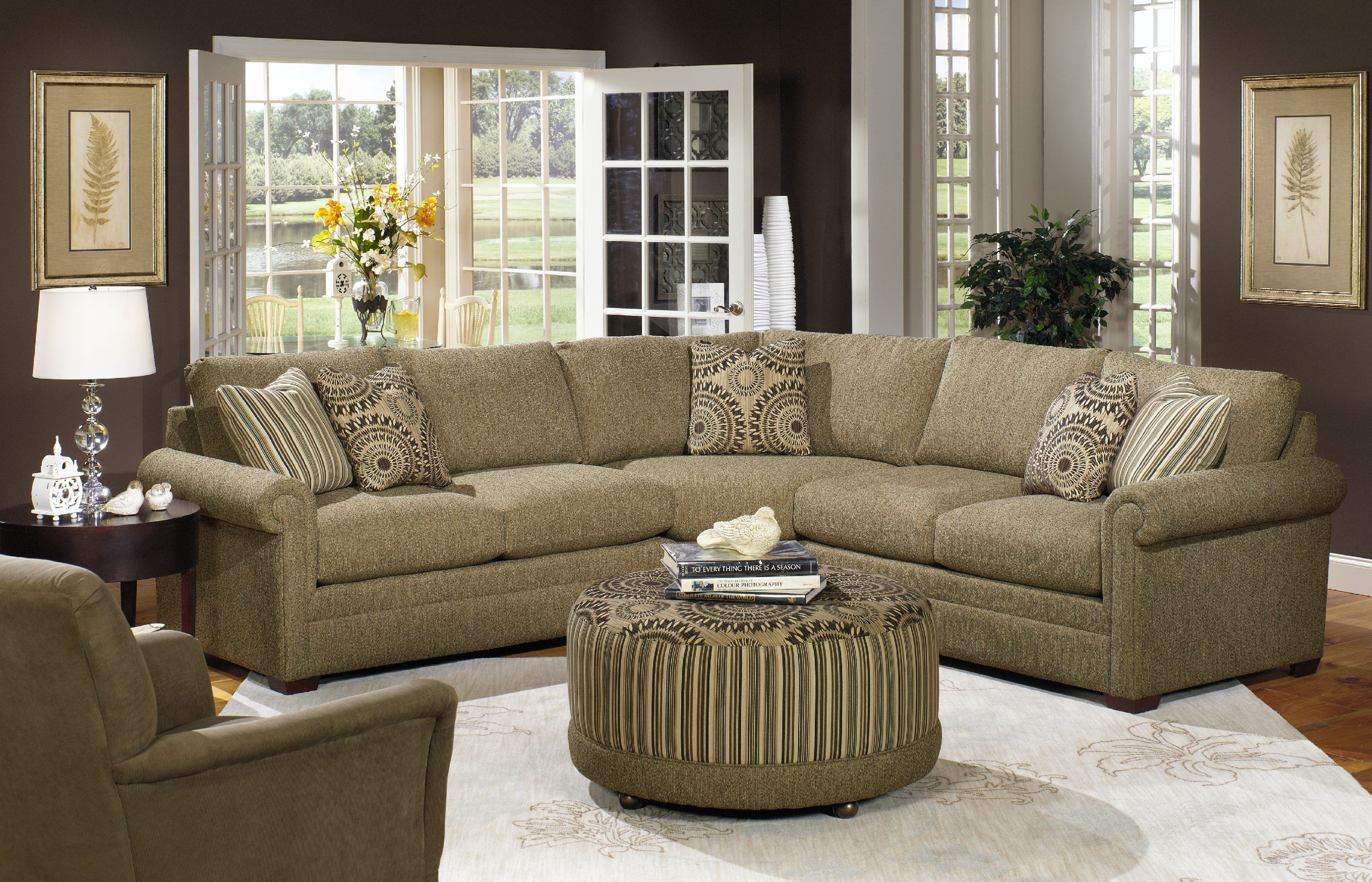 Craftmaster Living Room Sectional F9123 Sect Tyndall Furniture
