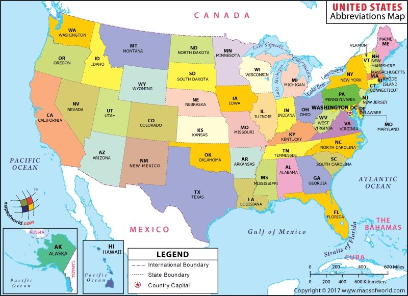 Us 50 States Map Usa State Map us 50 states abbreviation map how many states in usa