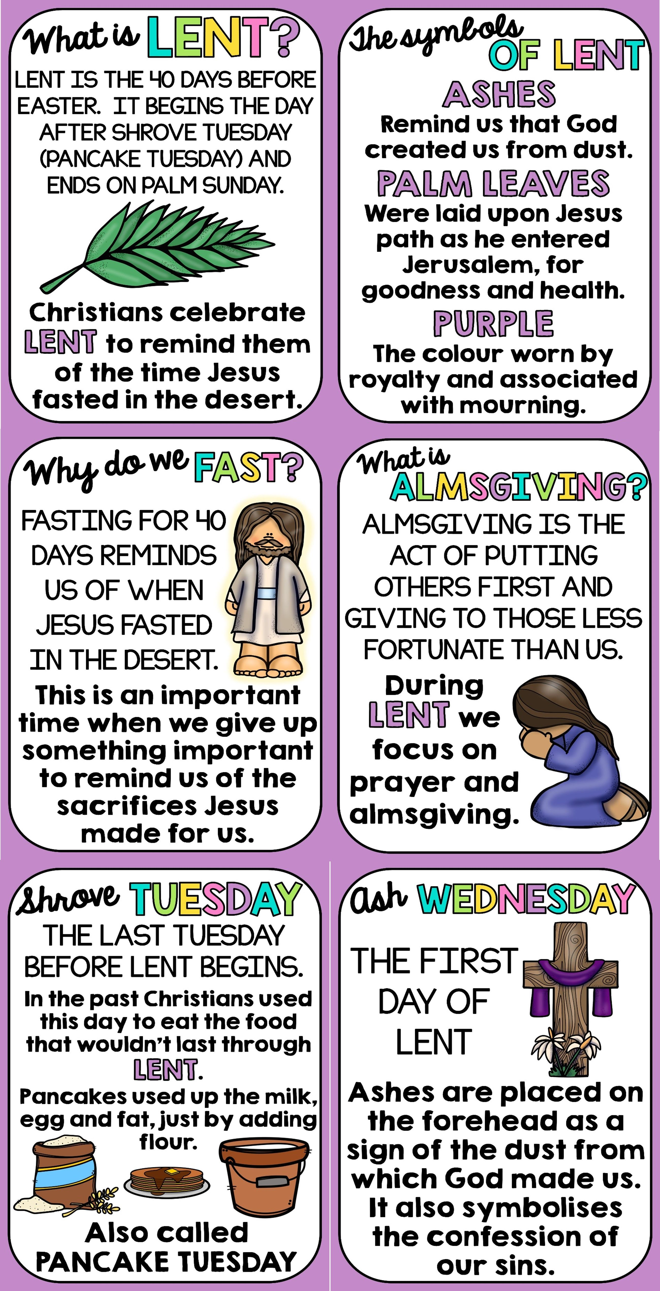 Lent Posters
