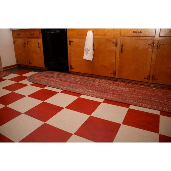 Red And White Checkerboard Floor Where