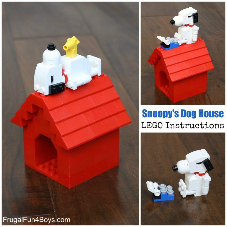 Snoopy And His Dog House Lego Building Instructions Lego For