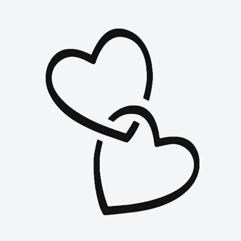 Double Heart Temporary Tattoo Fake Tattoos Nel 2021 Tatuaggio Cuore Cuore