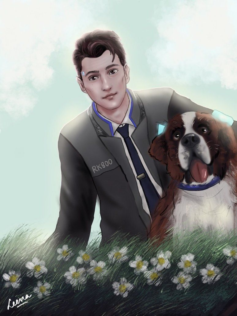 Connor and Sumo by