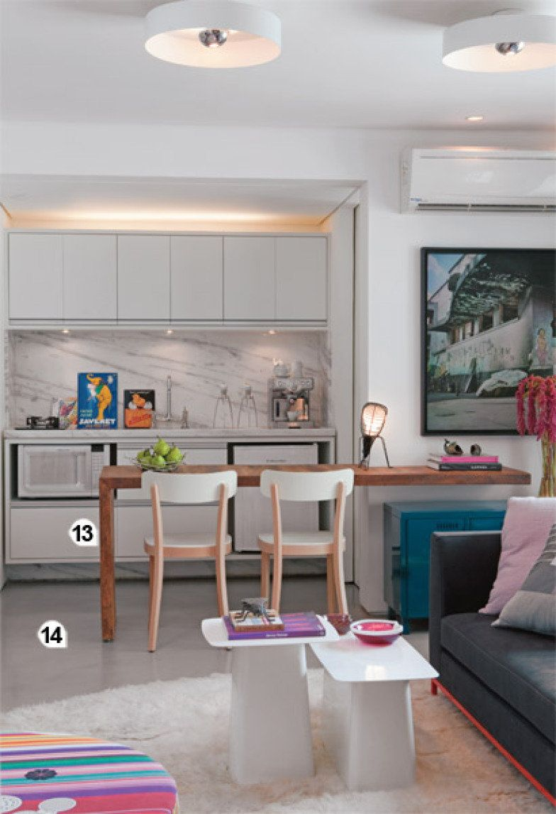 23 Solu Es Para Apartamentos Pequenos Bancada De Trabalho Boxe  ~ Balcão Grande Para Cozinha Acozinha Com Sala De Jantar
