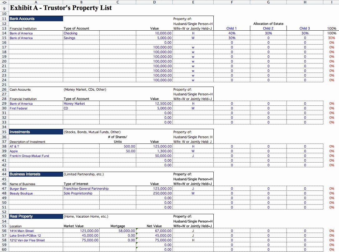 30 Estate Planning Worksheet Template in 2020 Simple