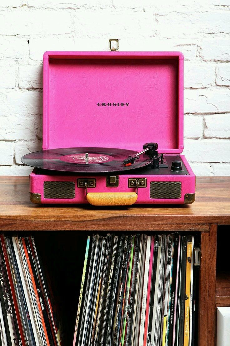 Hot Pink Record Player Records Vinyl Record Player Urban Outfitters Vinyl Record Player Crosley Record Player