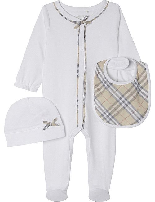 545a970b9400c BURBERRY Zayden cotton four-piece baby set 1-6 months