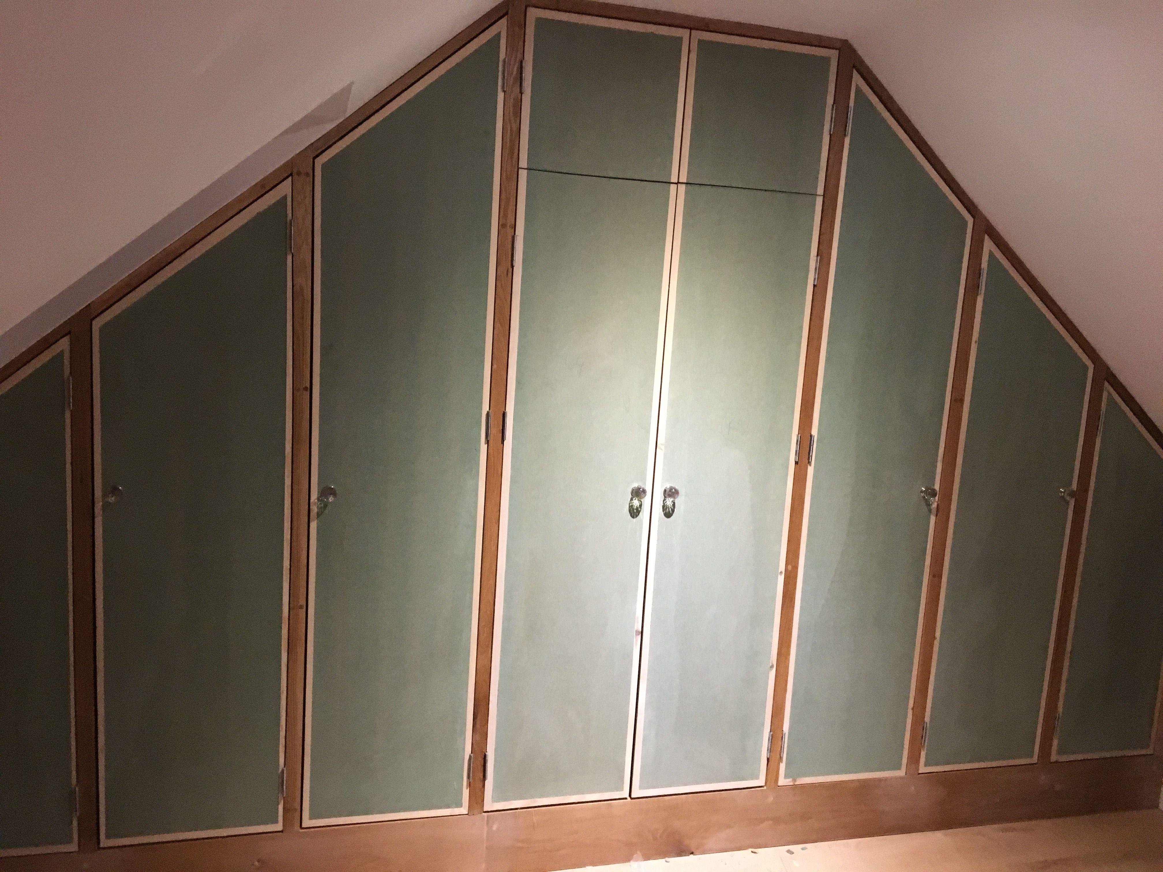 American White Oak Attic Wardrobes With Mdf Custom Doors Stair Railing Design Outdoor Stair Railing Railing Design