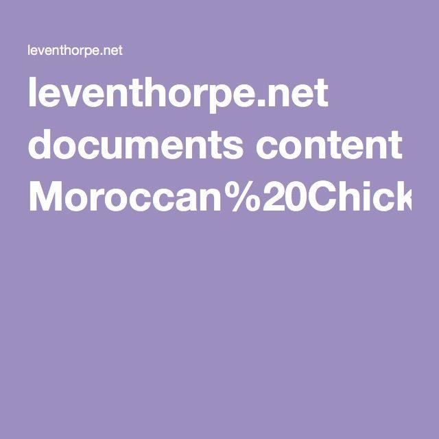 leventhorpe.net documents content Moroccan%20Chicken%20Pie%20-%20Morocco%20recipe%20sheet1.pdf