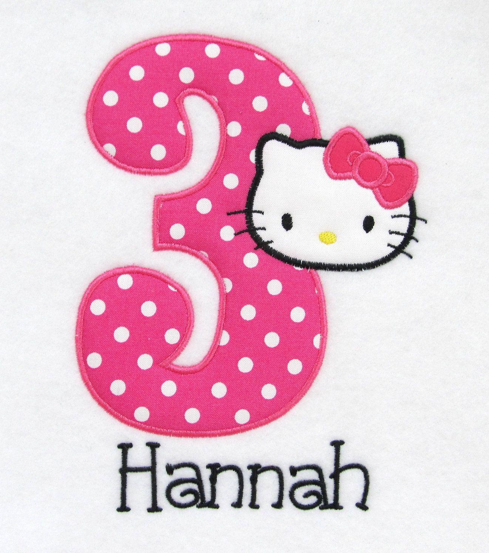 Personalized Shirt Birthday Shirt Hello Kitty Pink