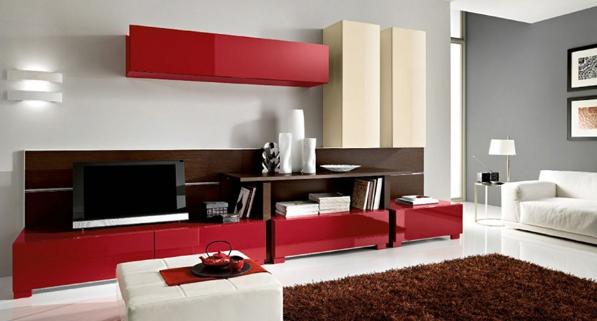 DecorationModern Living Room With Red Color Small Decor Images Furniture Rugs Layout