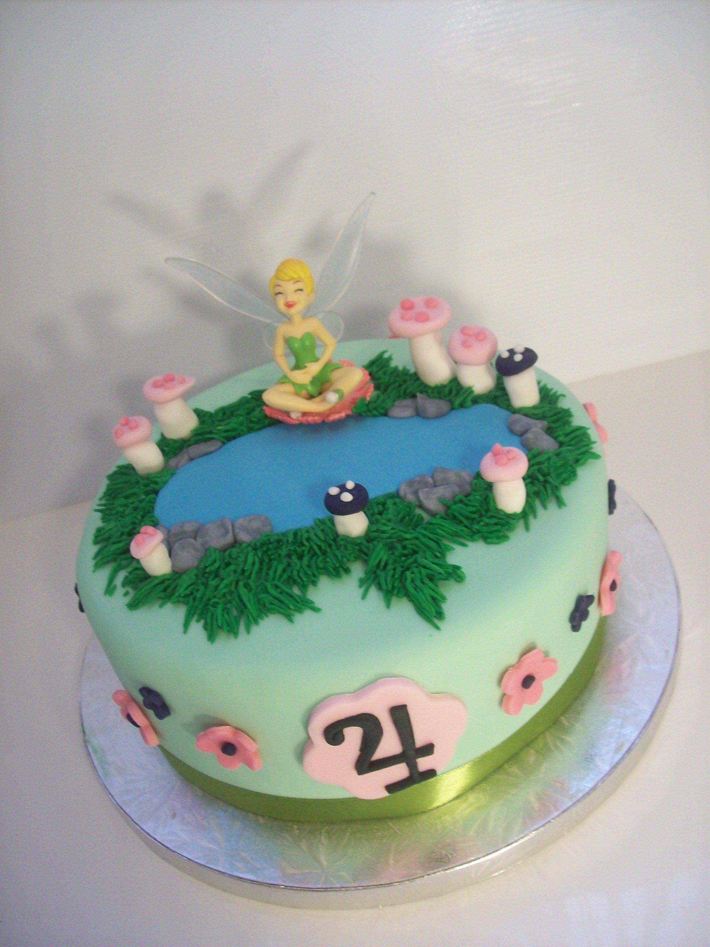 Tinkerbell Cake Auckland 250 10 Inch FREE Delivery Within AKL Figurines Bought From A Licensed Retailer