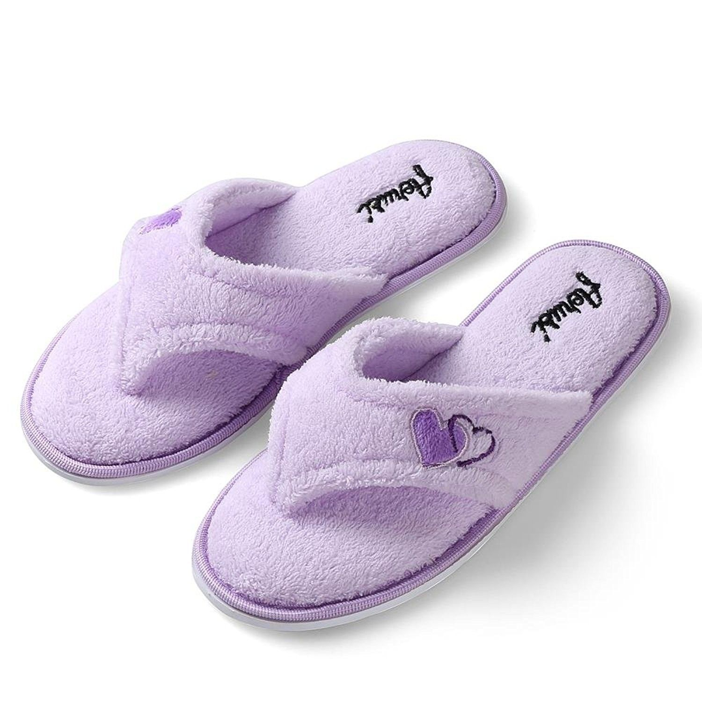 cf5ccea4ff70 Women s Comfort Plush Lining Memory Foam Spa Thong Flip Flops House ...
