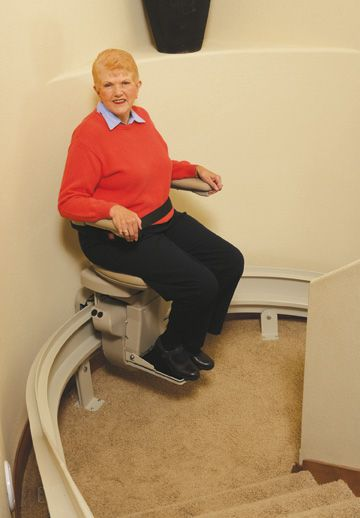 Curved Stairlifts Just For Your Home Or Commercial Space With