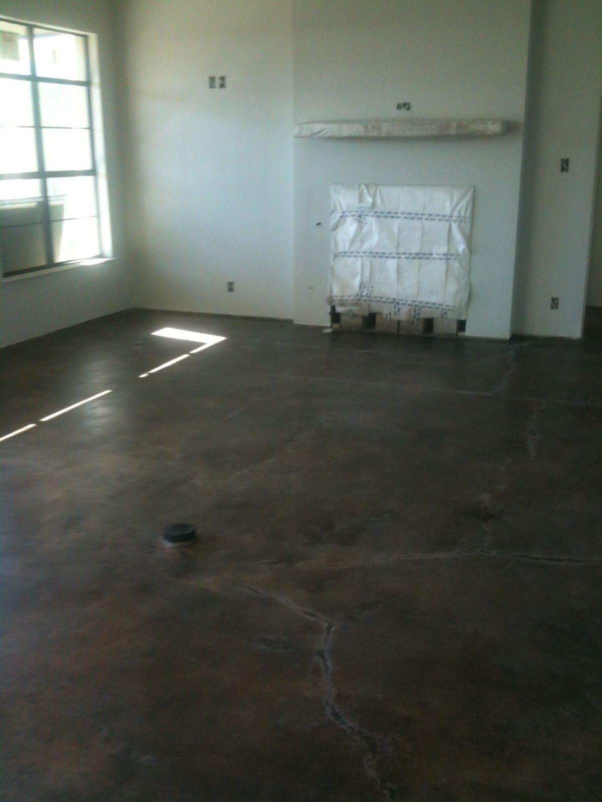 Black Concrete Flooring : Hill country homebody kemiko black concrete stain
