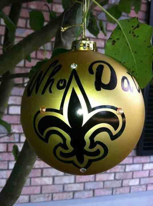 New Orleans Saints Ornament.....WHO DAT | Ornaments diy ...